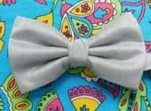 "Stiff bow tie silver grey Lloyd Attree Smith to fit collar sizes up to 21"" DD"